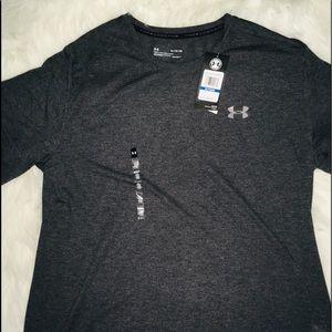 Under Armour Gray Dark men's short sleeve shirt XL